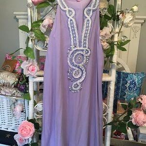 Beautiful Lilly pulitzer purple embellished dress